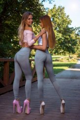 Leggings push up Grey pants Yastraby