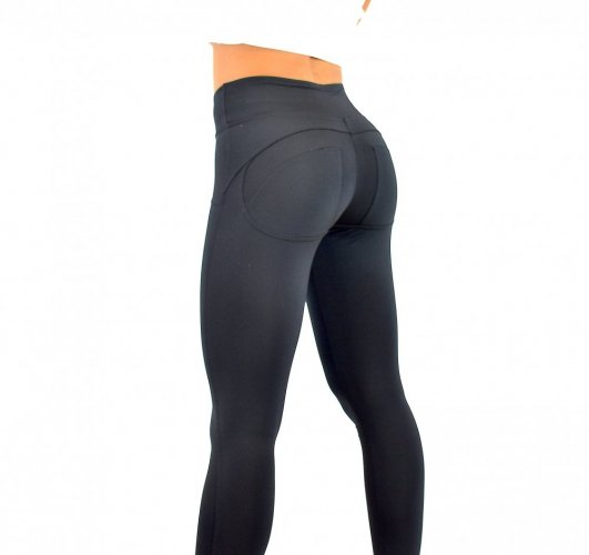 Leggings double push up Black - Size: S