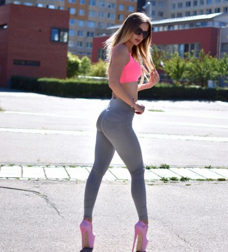 Push up Leggings Grey pants Yastraby